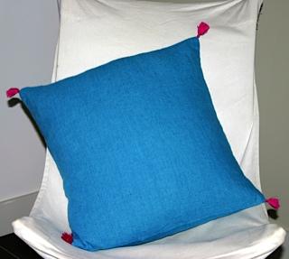 coussin LIPARI bleu lagon